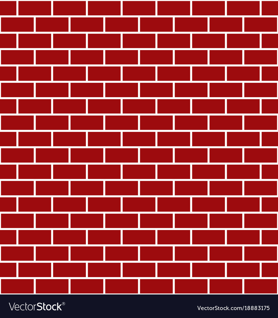 Red Brick Wall Element For Design For Christmas Vector Image