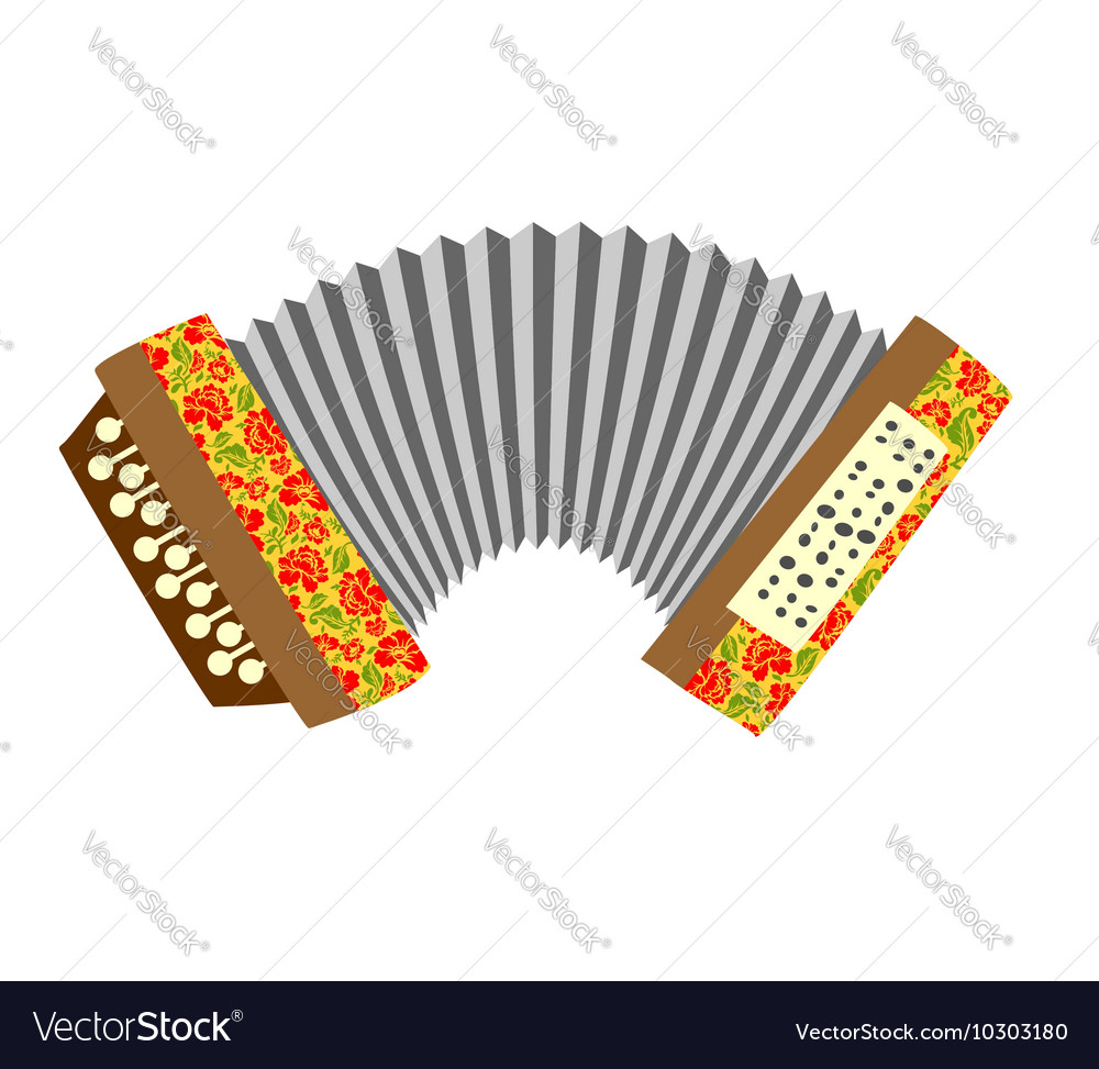 Accordion Musical instrument white background