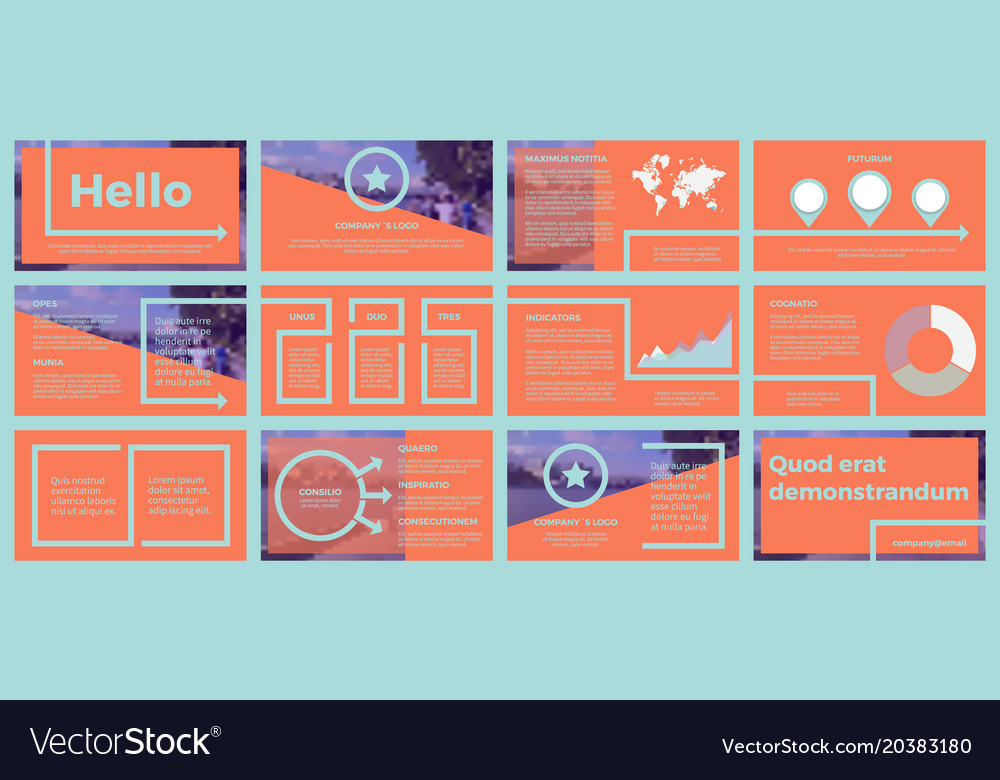Business template for corporate reports vector image