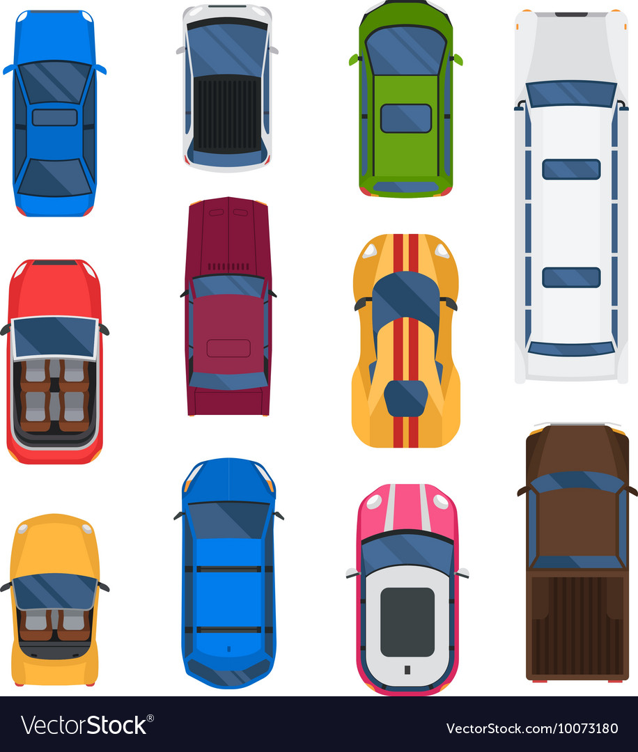 Car top view set