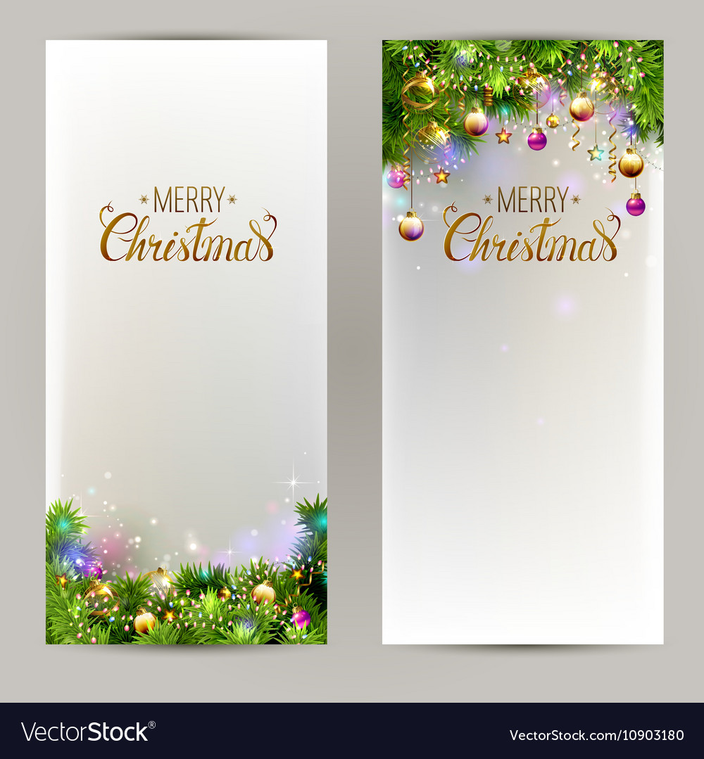 Elegant Christmas backgrounds with evening balls vector image