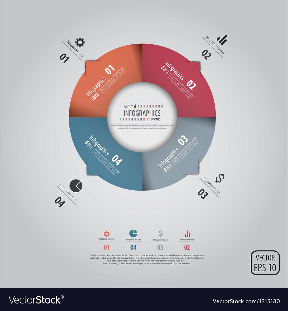 Infographics design 3 vector image
