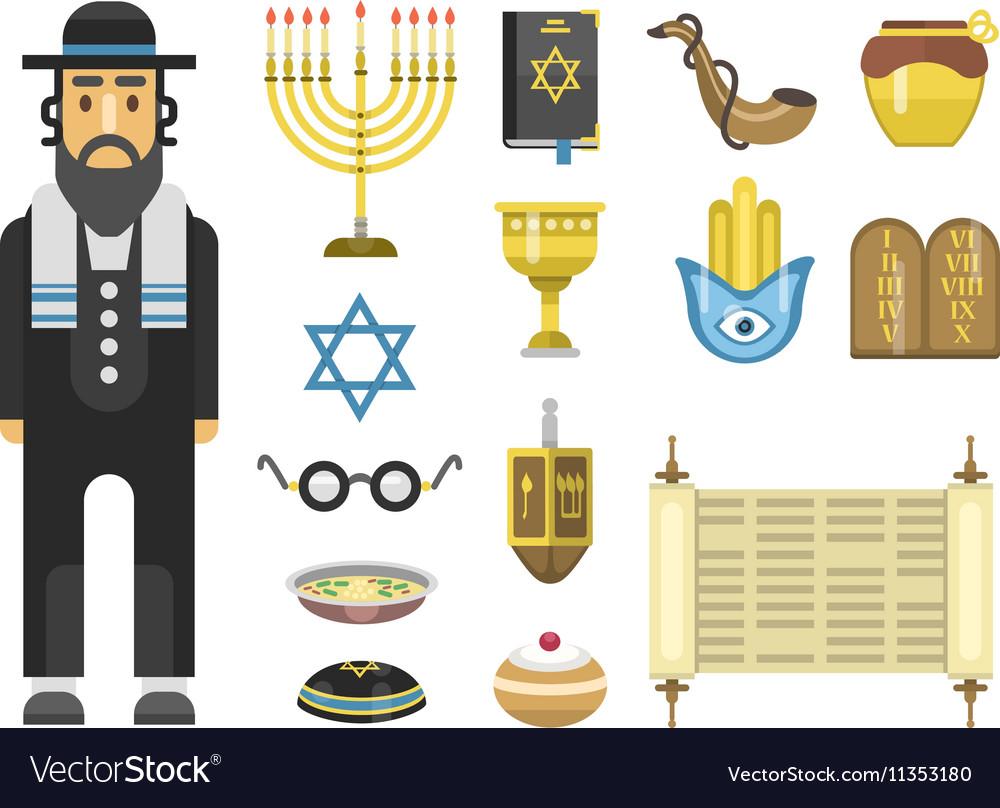 Jew icons set