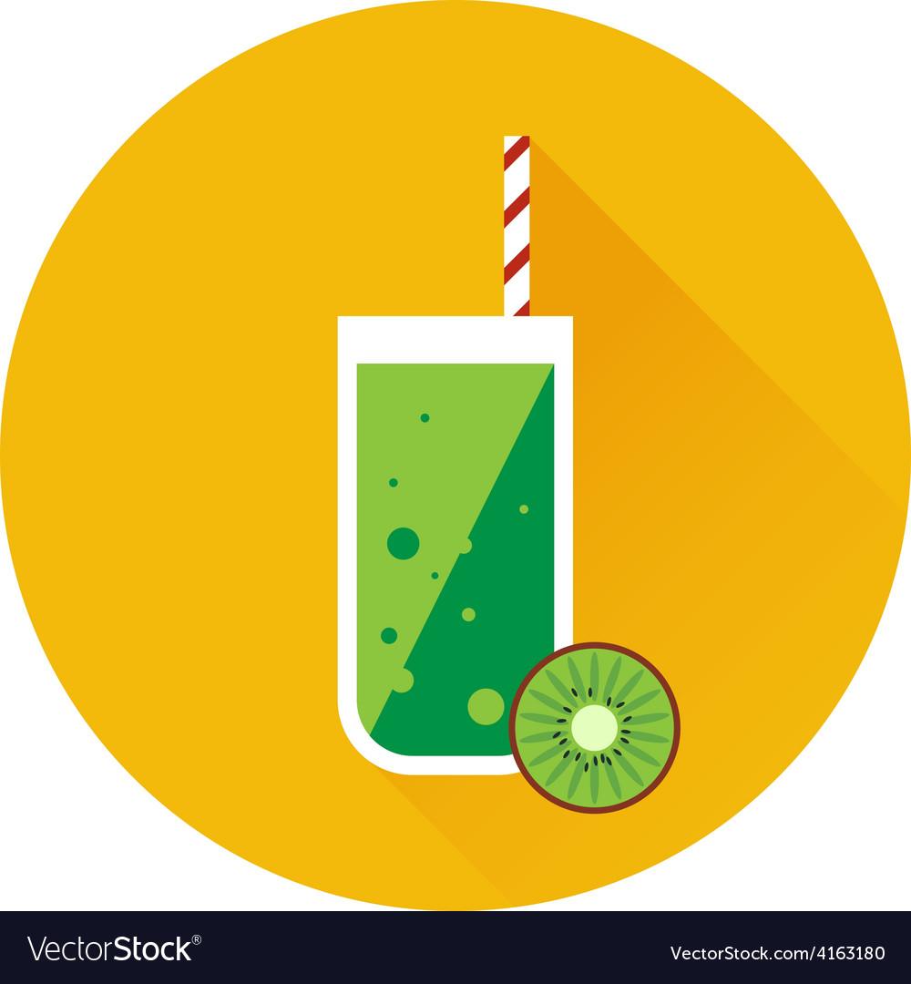 Kiwi shake or juice icon