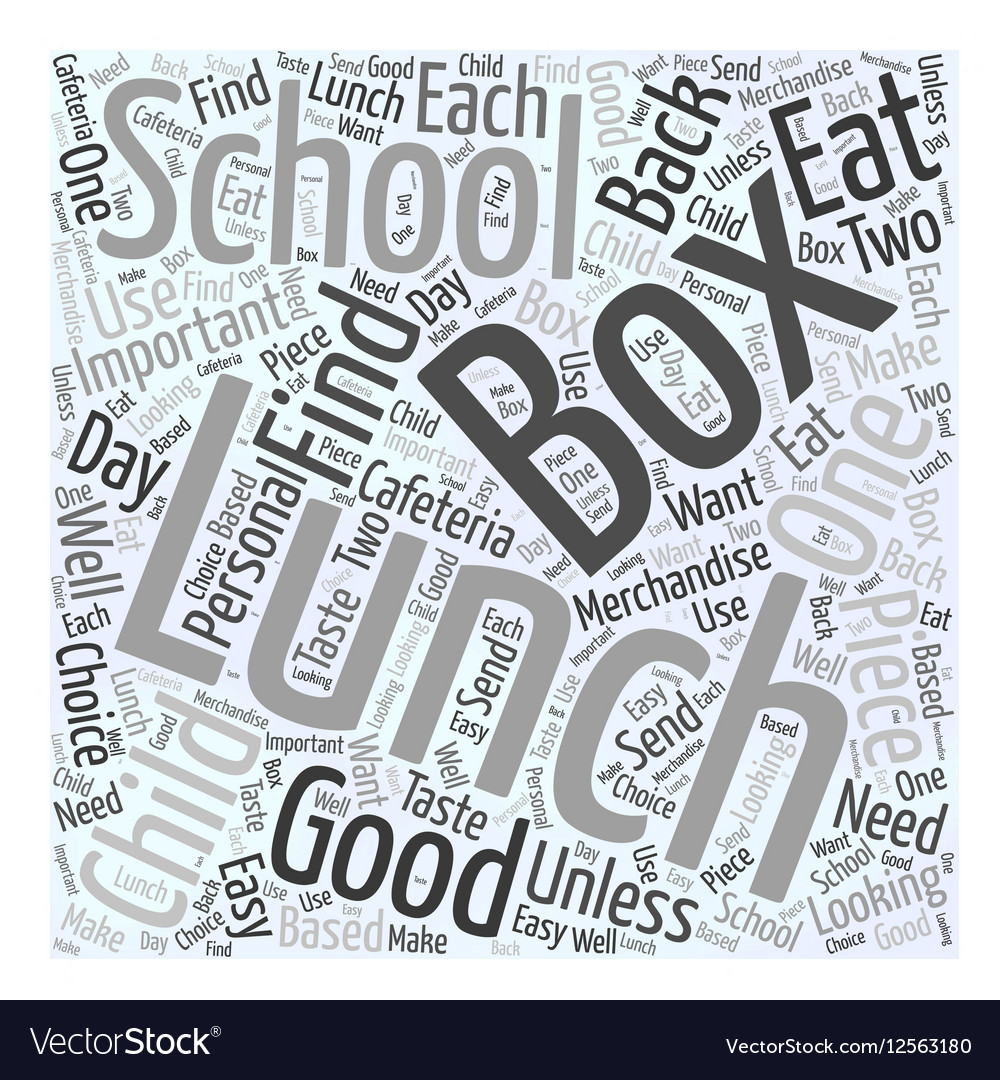 Lunch box Word Cloud Concept vector image