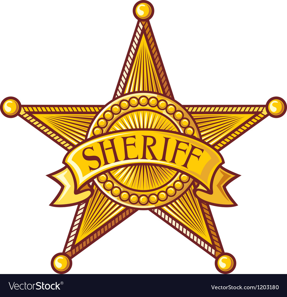 Sheriff badge vector image