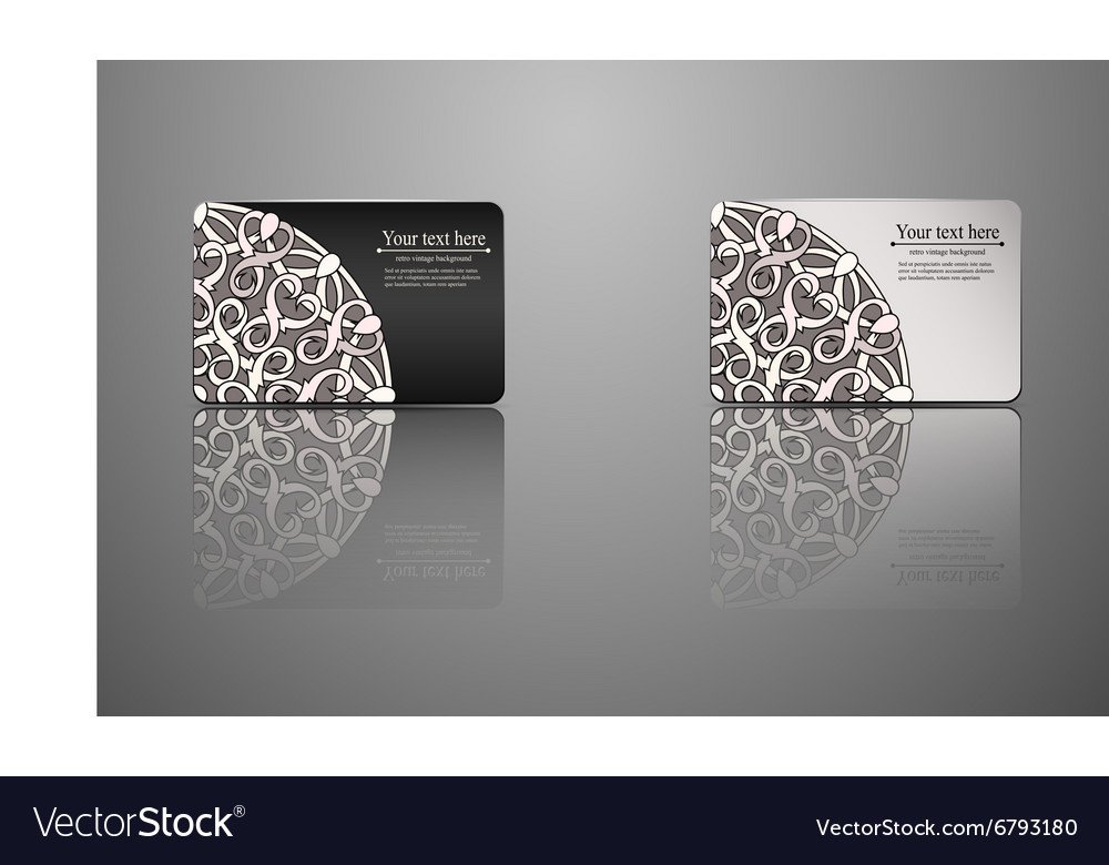 Template gift card credit card business card vector image accmission Image collections
