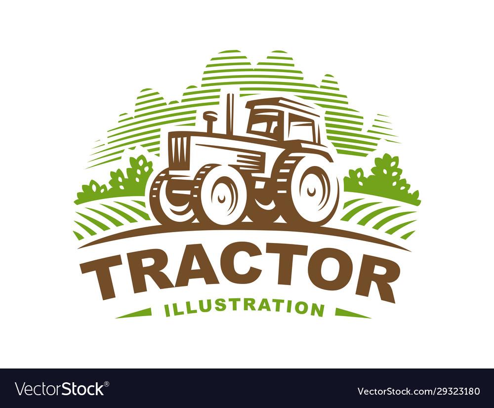 Tractor logo emblem design