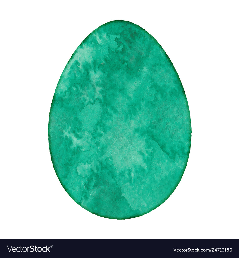 Watercolor isolated egg