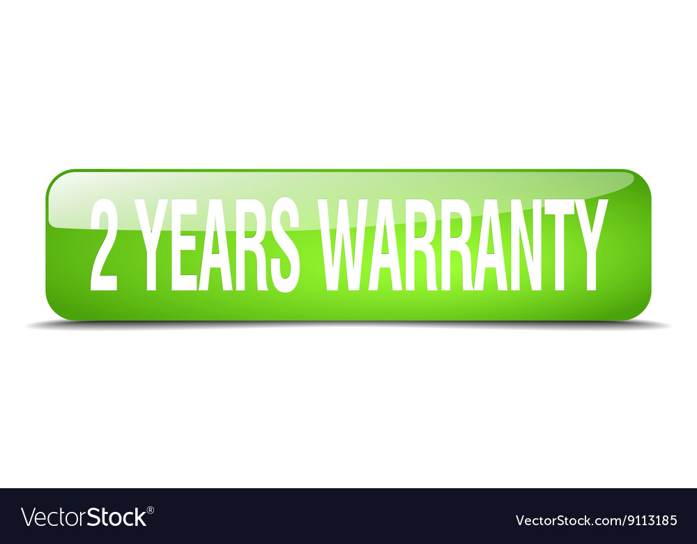 2 years warranty green square 3d realistic