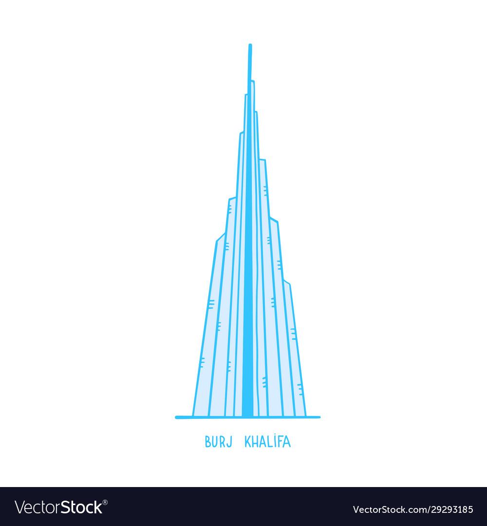 A freehand design burj khalifa mega