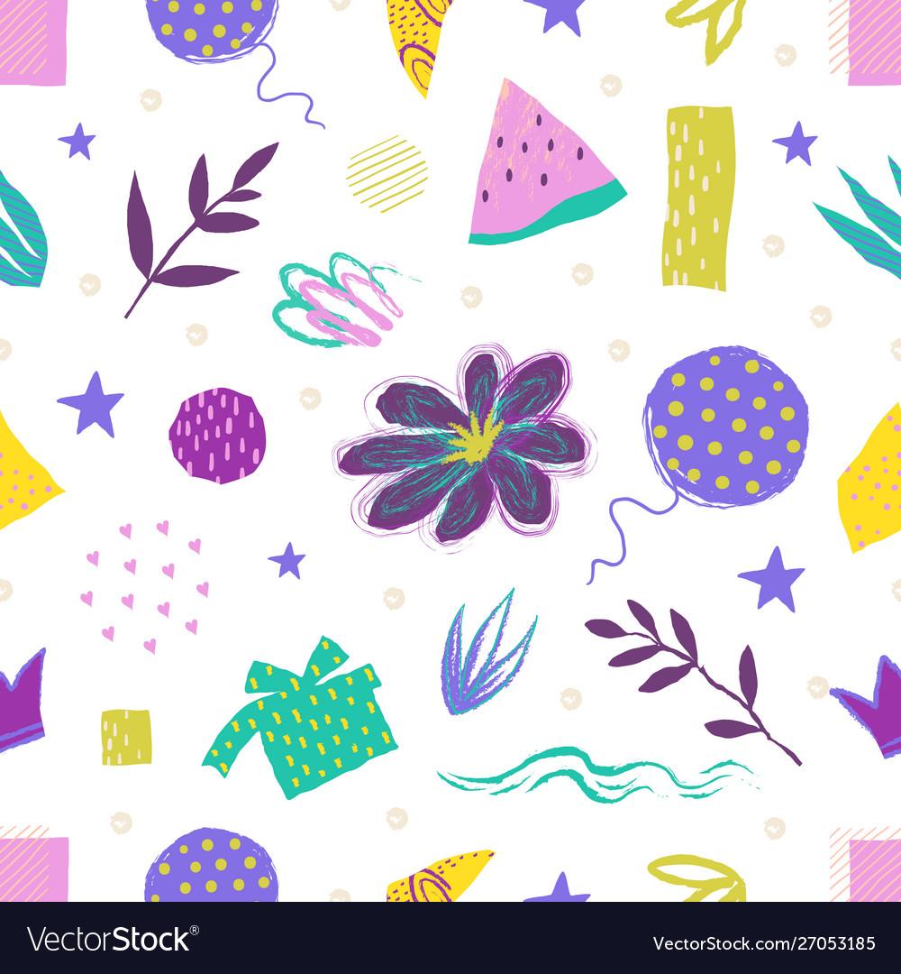 Abstract brush pattern trendy modern seamless