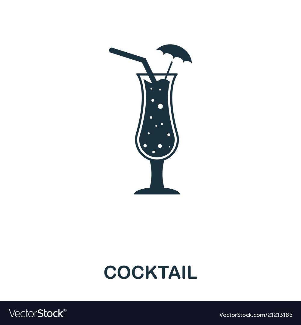 Cocktail icon line style icon design ui