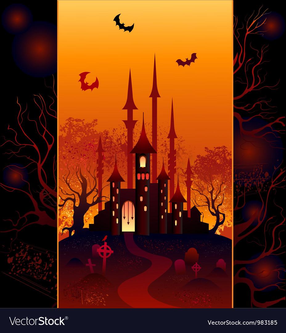 Design for halloween vector image