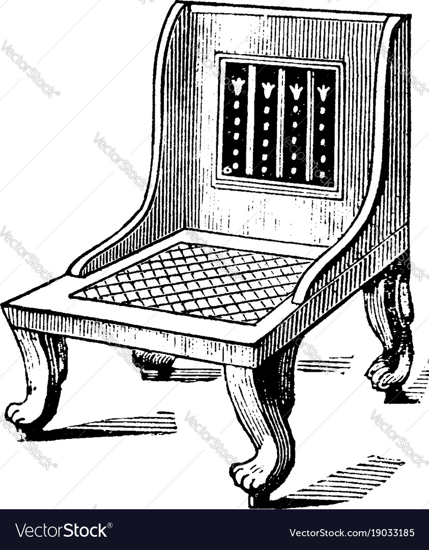 Charmant Egyptian Chair Have A Great Variety Of Vector Image