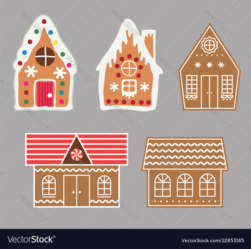 Gingerbread house cookie set