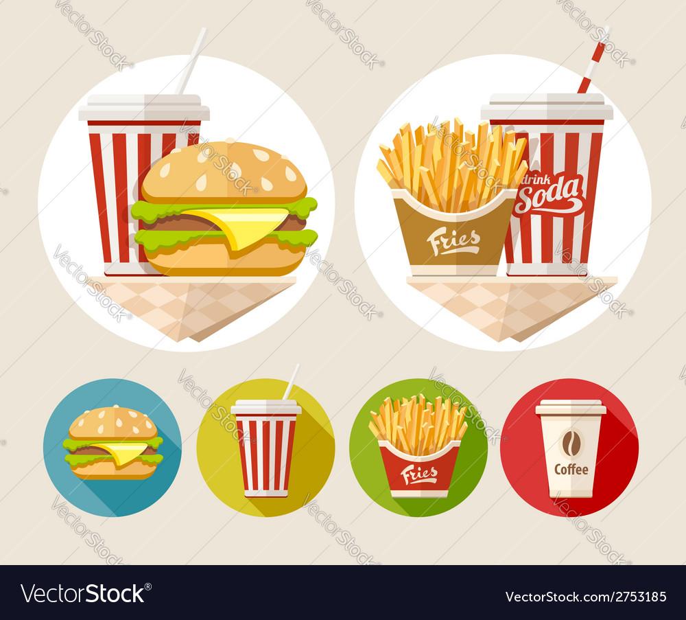 Hamburger french fries and