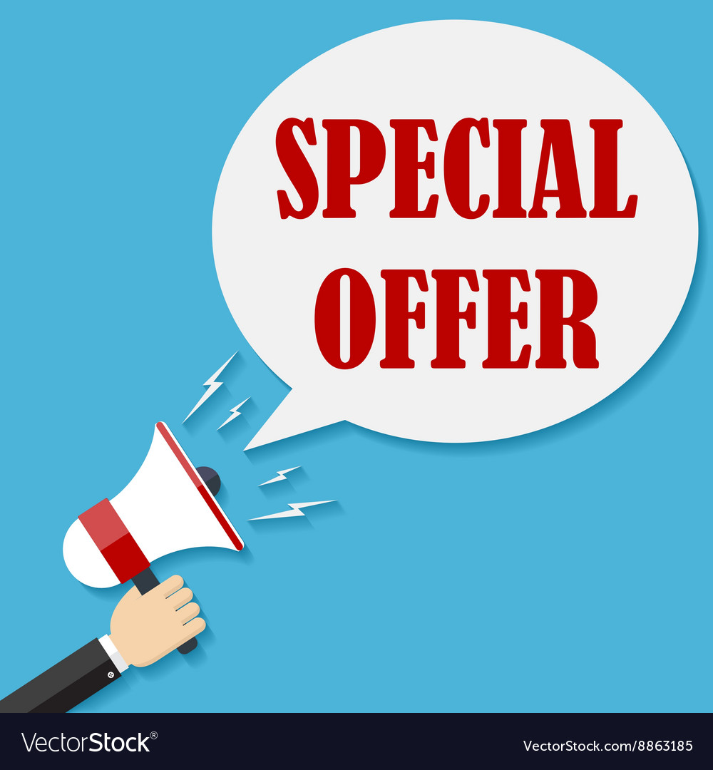 Megaphone with text Special Offer