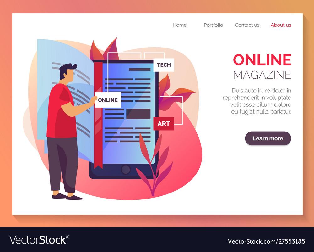 Online magazine internet library shop web banner