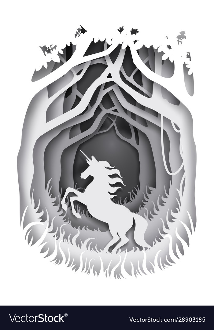 Unicorn fairytale character