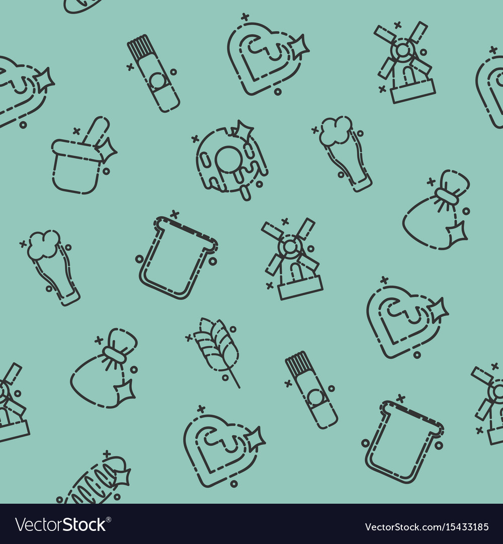 Wheat concept icons pattern vector image