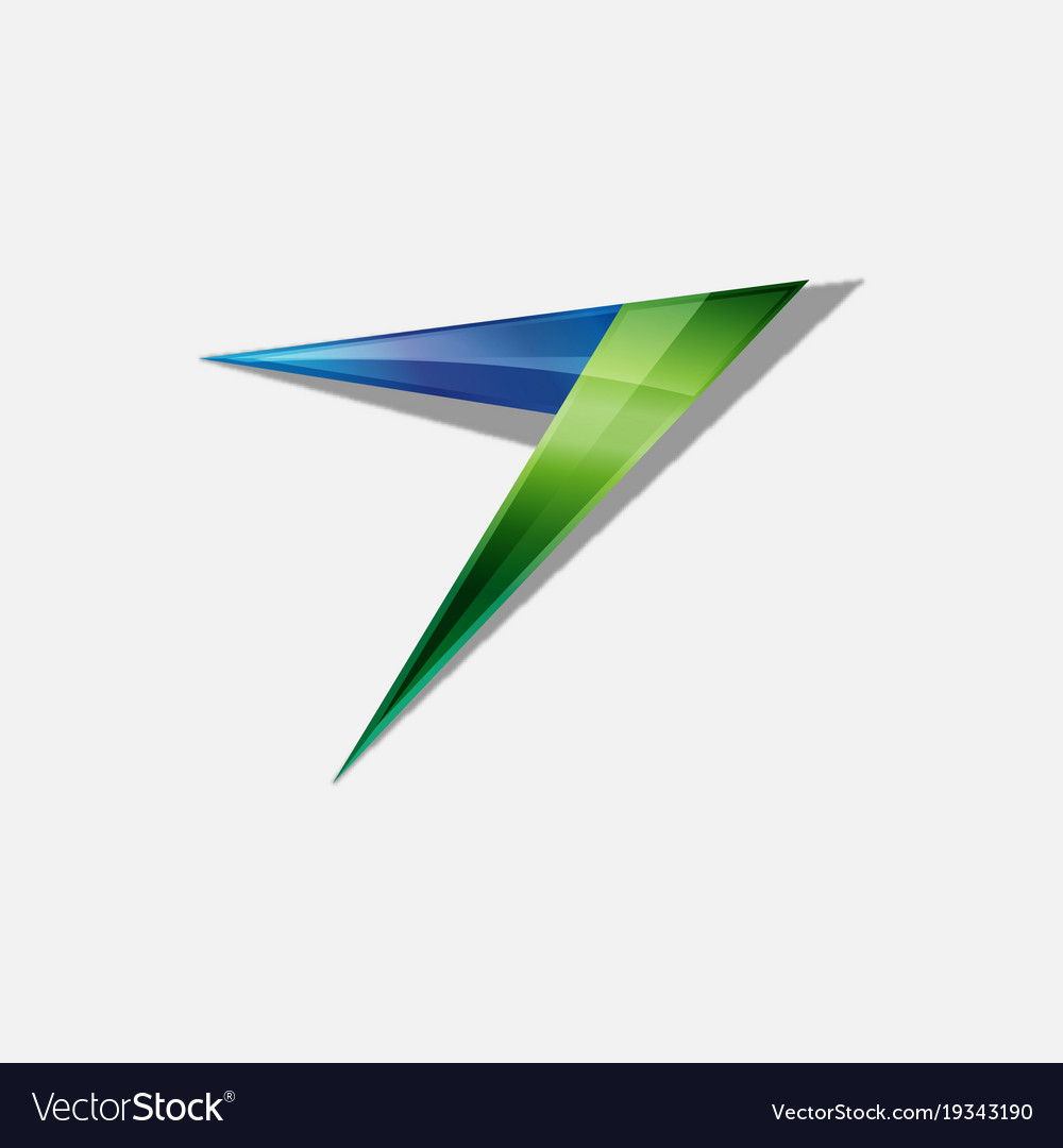 abstract arrow logo design royalty free vector image