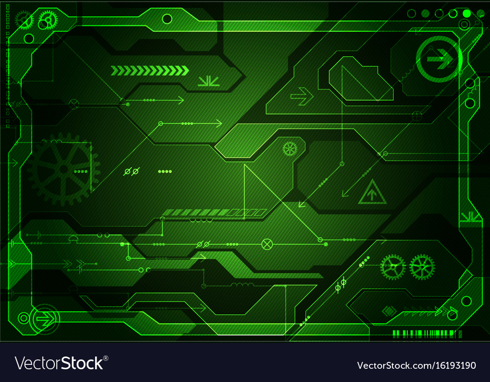 Abstract green digital communication technology