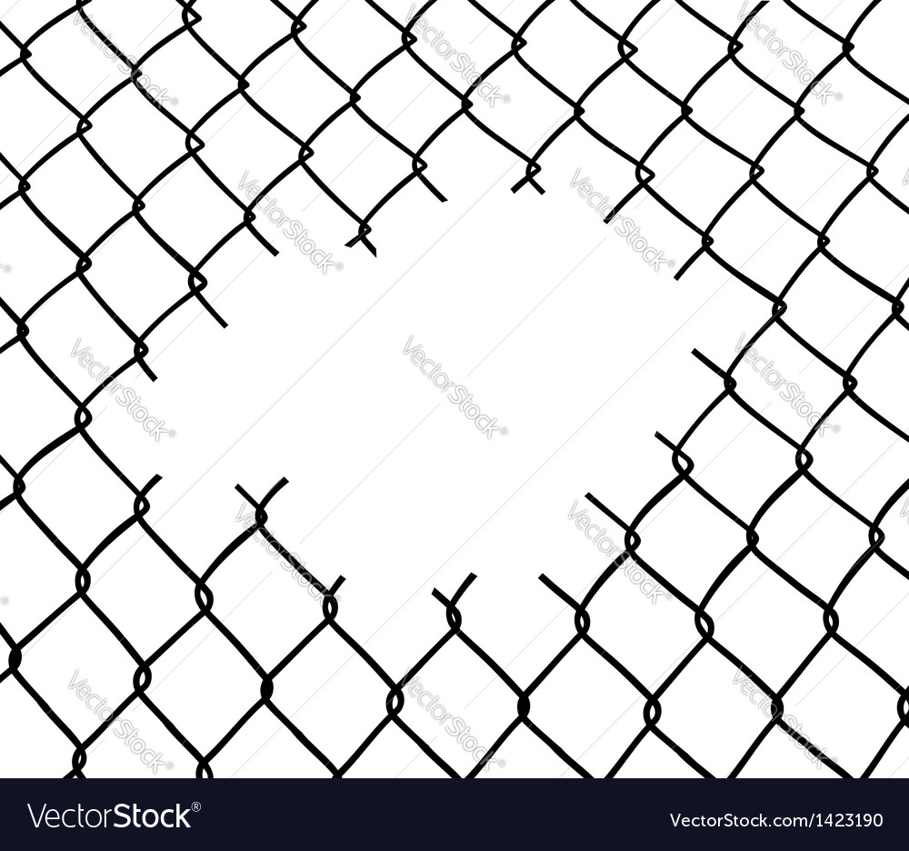 Cut wire fence
