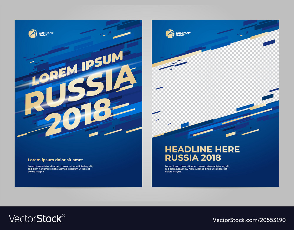 Layout template design for sport vector image