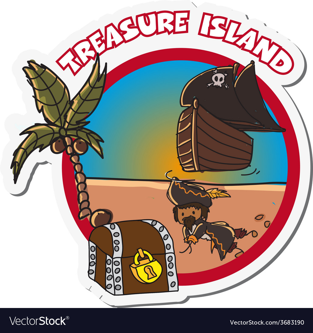 Pirate label vector image
