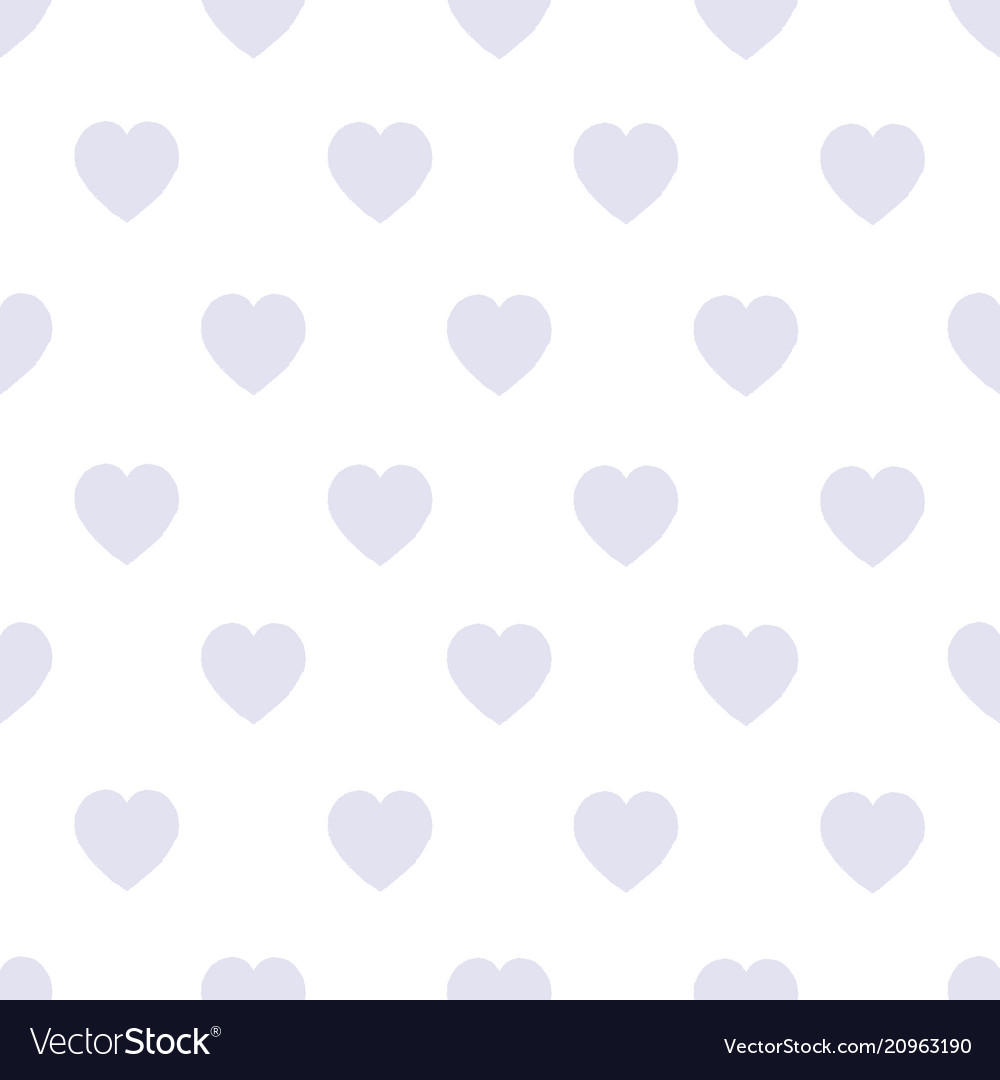 Seamless background with gray hearts on a white