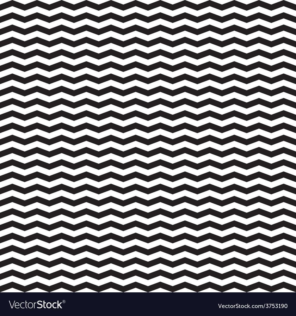 Zig zag black and white chevron tile pattern vector image