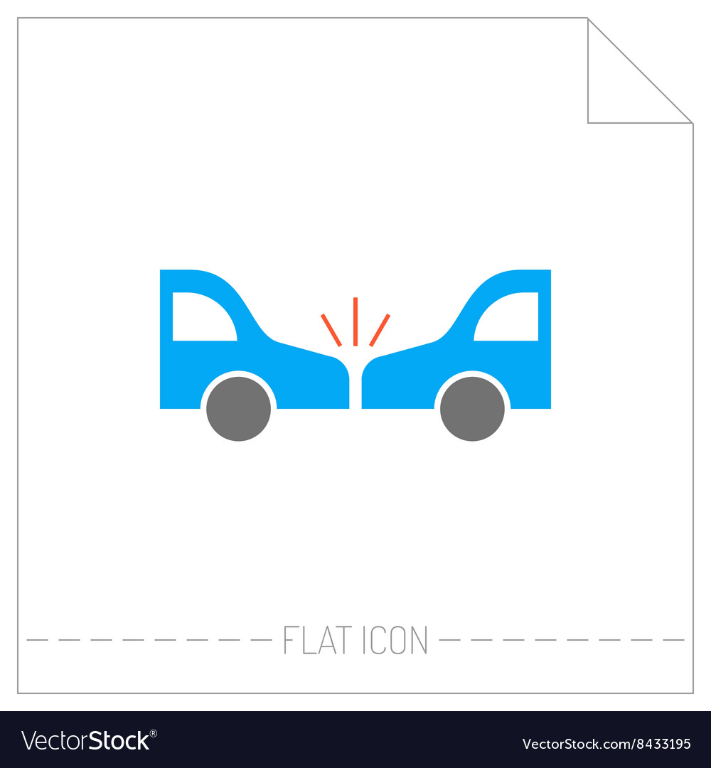 Accident of car Silhouette color icon