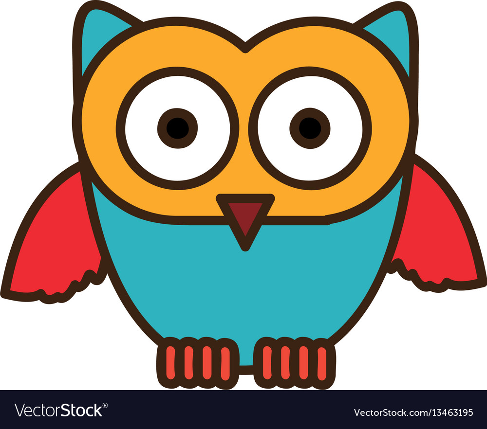 Color stylized owl icon
