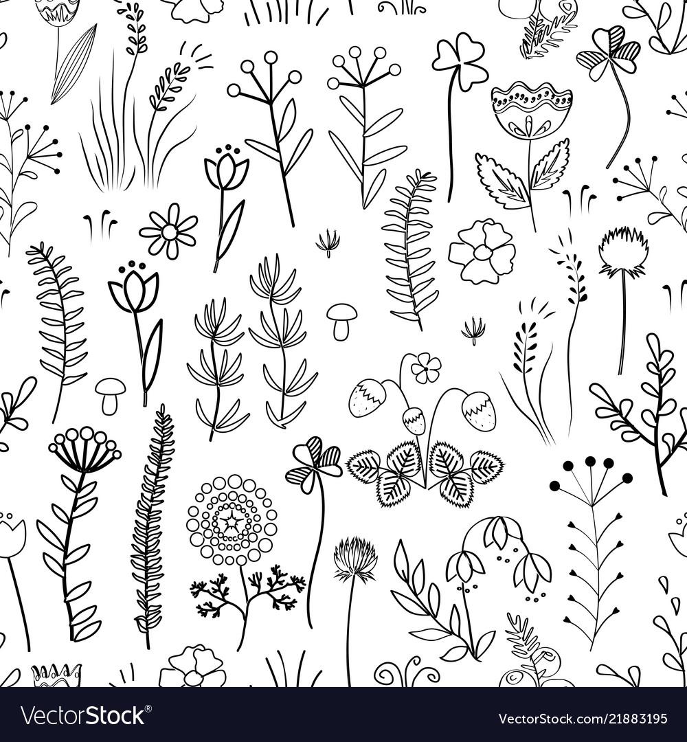 Floral seamless pattern vintage background