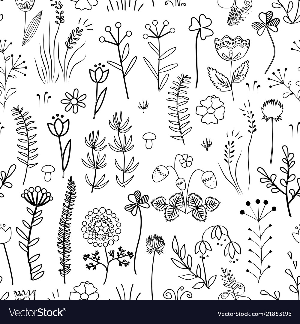 Floral seamless pattern vintage background with