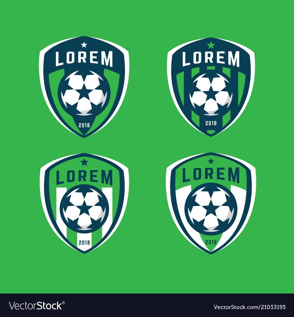 Football logo badges set