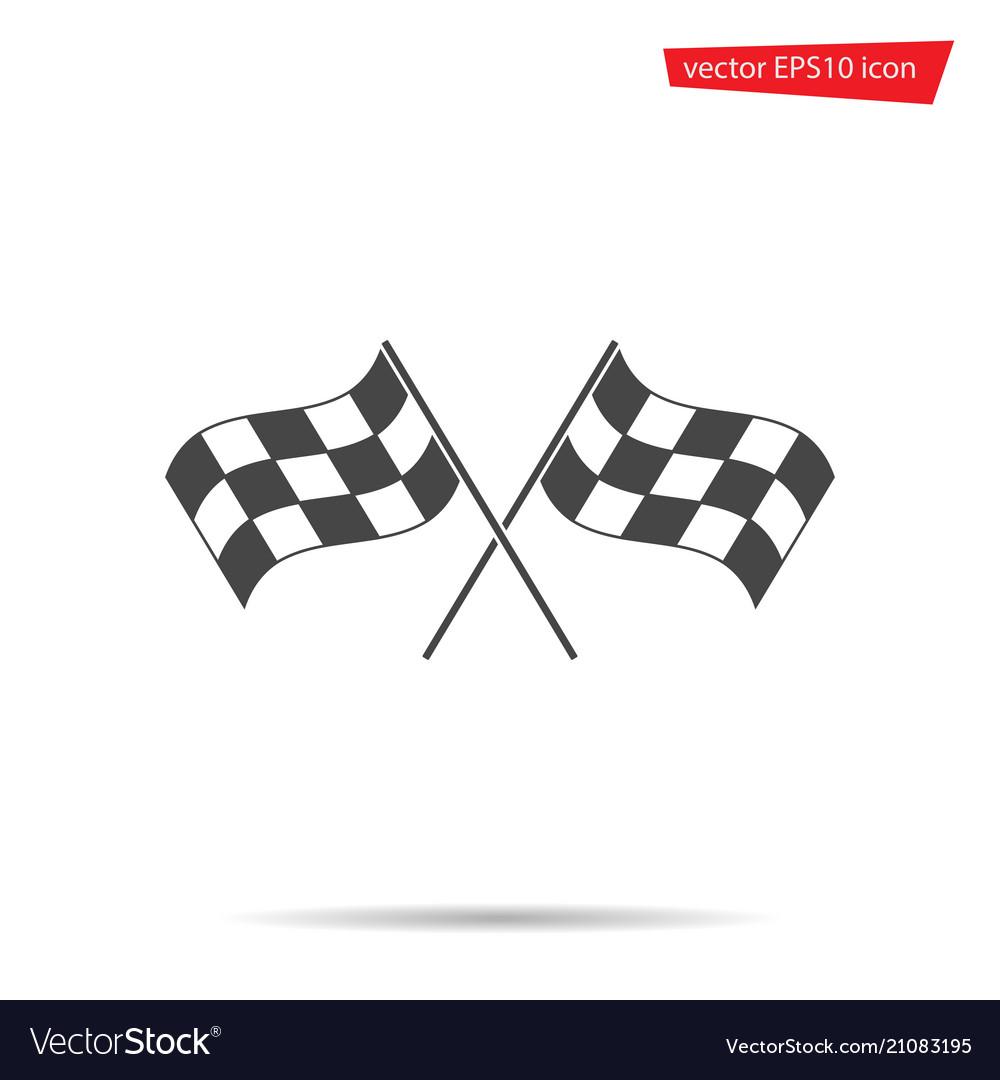 Gray checkered flag icon motocross