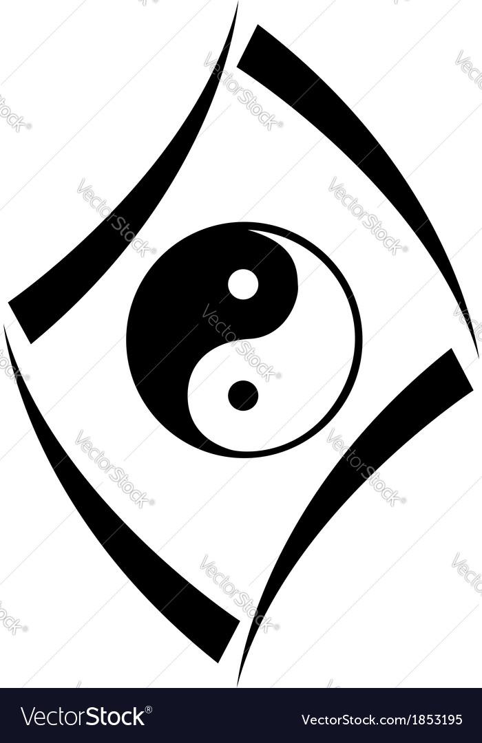 Logo Concept With Yin And Yang Symbol Royalty Free Vector