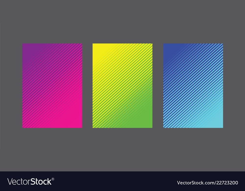 A4 fading line pattern background set