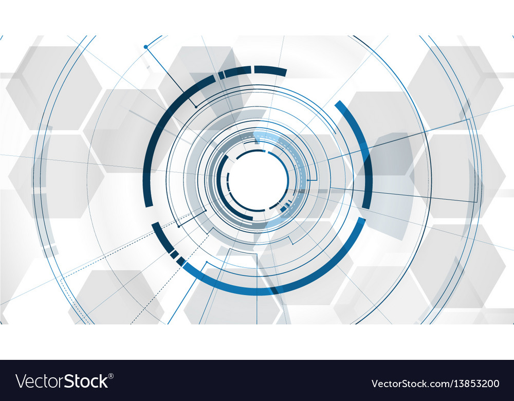 Abstract technological middle tunnel template
