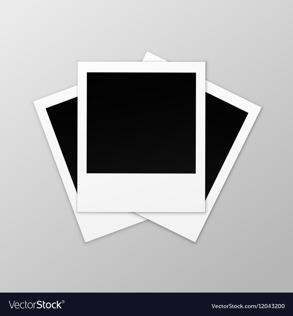 Blank Retro Photo Frames Isolated on Background