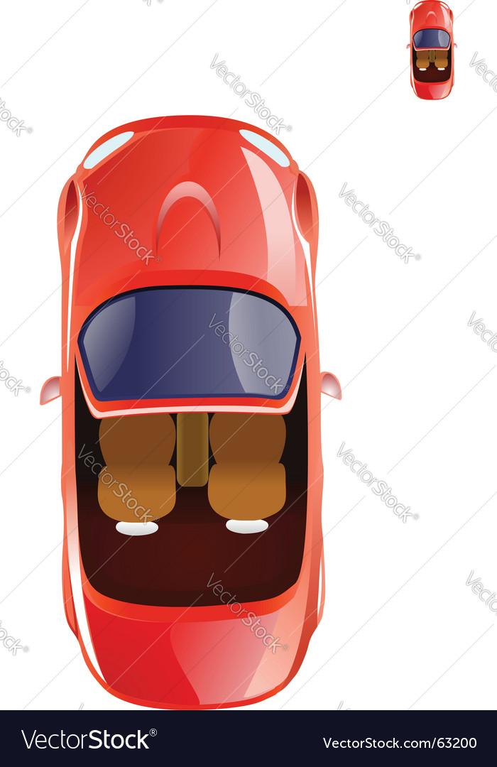 Cabriolet car icon vector image