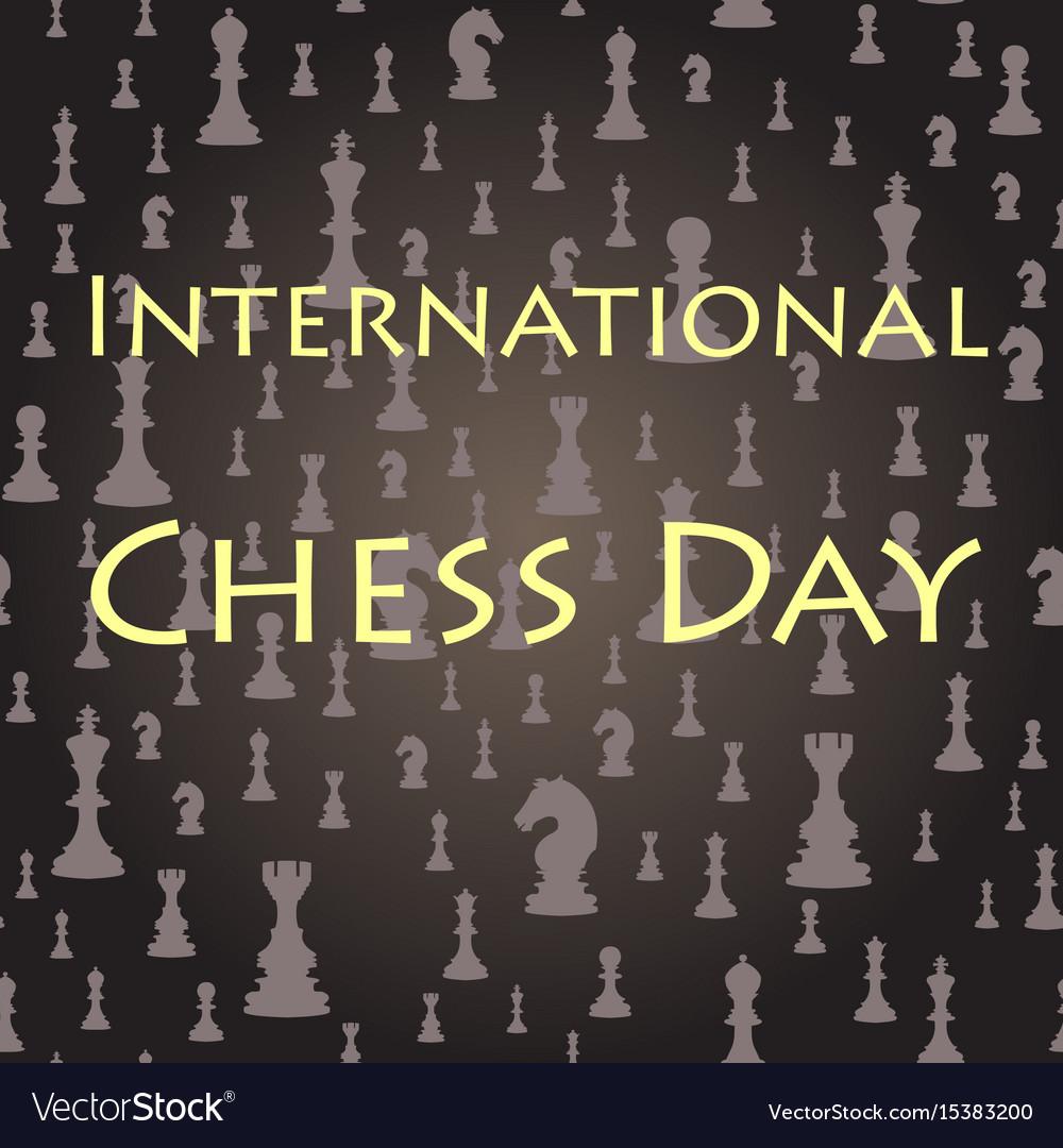 Chess seamless background international chess day