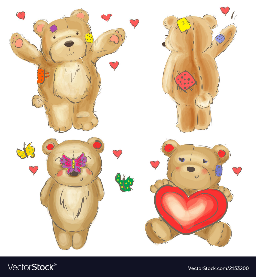 Collection of valentine teddy bears