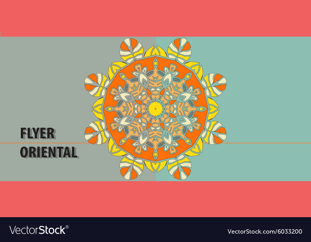 Cover for invitation with yoga yantra symbol vector image stopboris Image collections