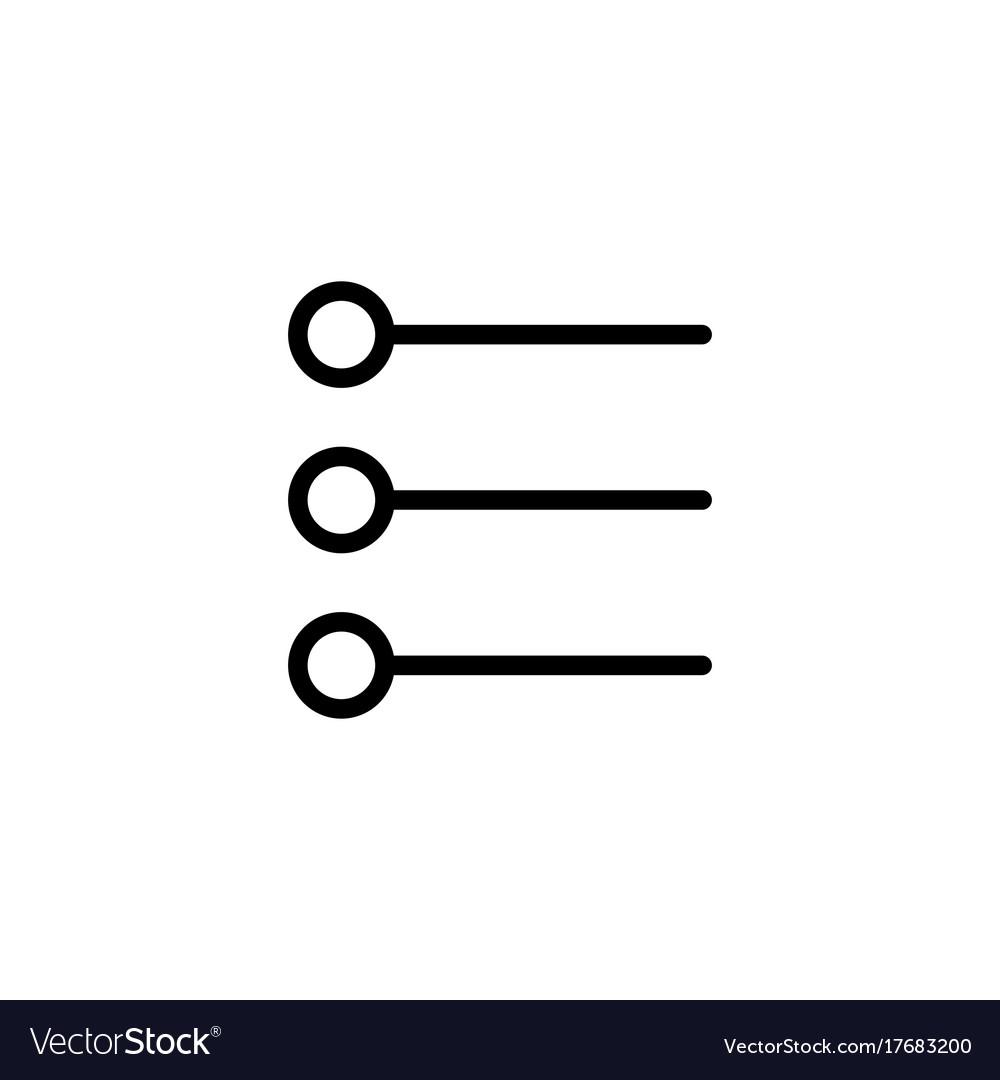 Line simple list checklist icon