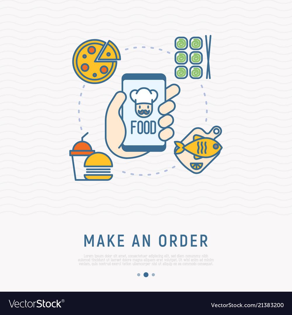 Order food online via mobile app