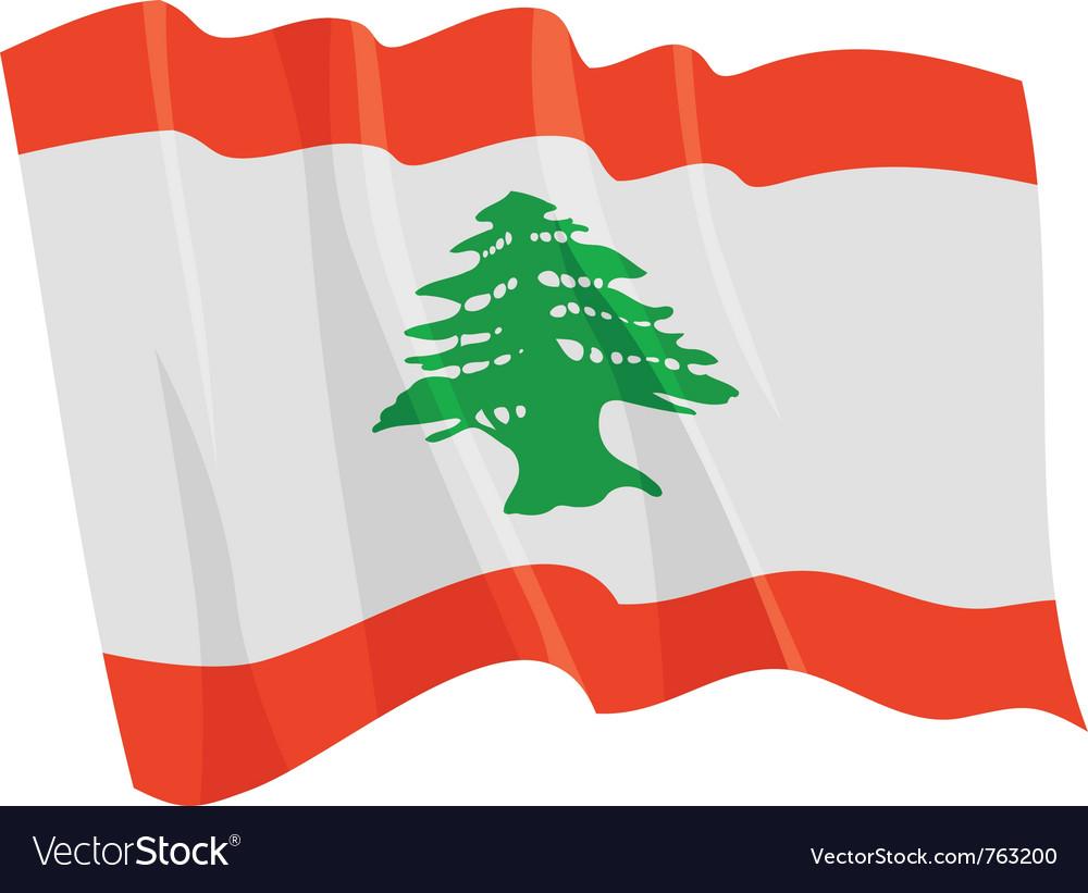 Political waving flag of lebanon