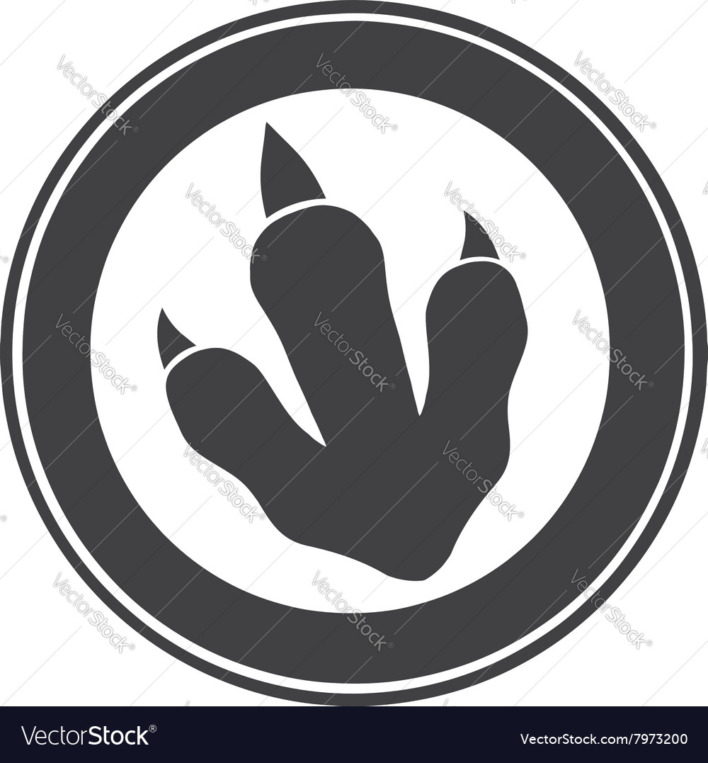 Raptor Dinosaur Paw Print Logo